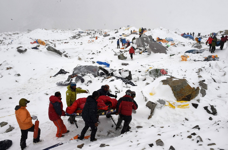 On Mount Everest, Surviving an Earthquake and an Avalanche